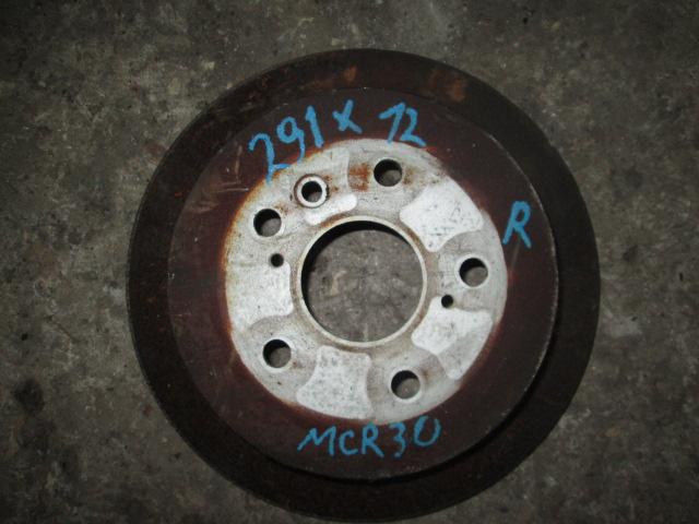 тормозной диск задний Toyota Estima/Ipsum/Alphard/Isis ACR30/ACM21/MNH10/ANM10 б/у (290*12) 2WD=4WD