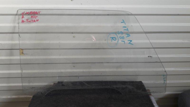 Стекло двери Mazda Titan WE5AT переднее правое (б/у)