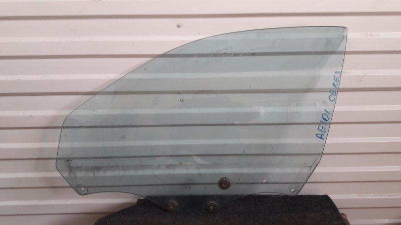 стекло двери Toyota Corolla Ceres, Sprinter Marino AE101 переднее левое б/у