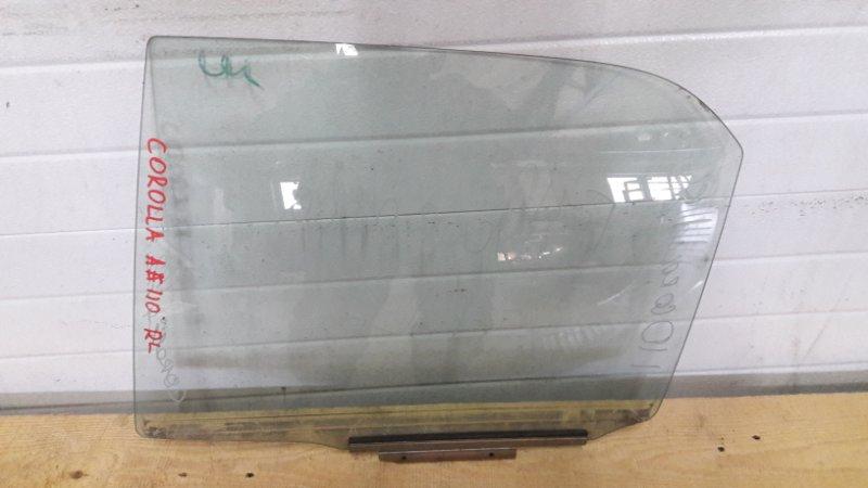 Стекло двери Toyota Corolla AE110 заднее левое (б/у)