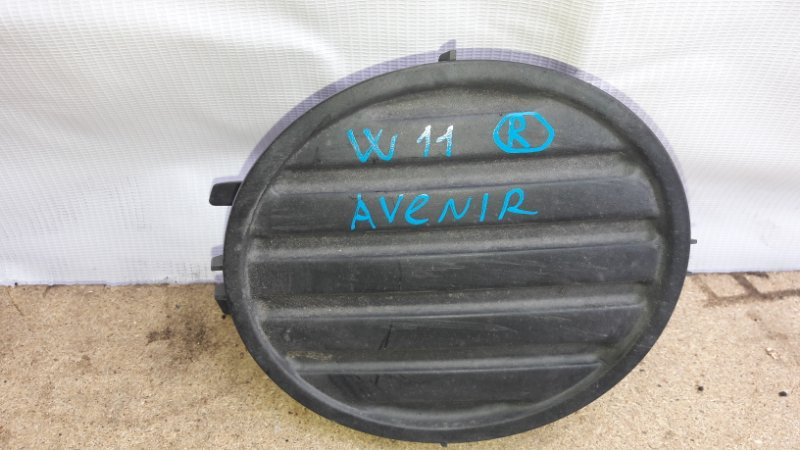 Заглушка бампера Nissan Avenir W11 1998 правая (б/у)