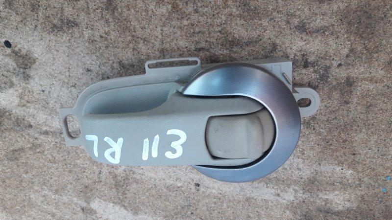 Ручка двери внутренняя Nissan Tiida C11 задняя левая (б/у)