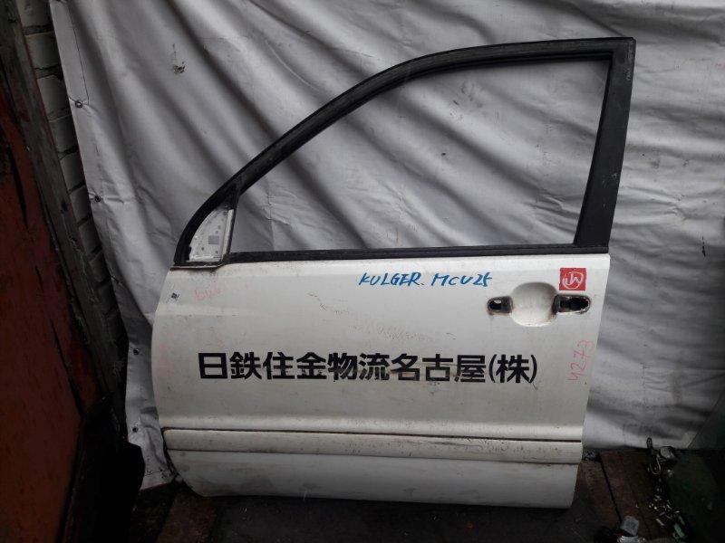 Дверь Toyota Highlander ACU20 передняя левая (б/у)