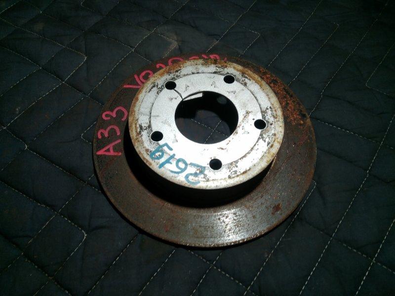 Тормозной диск Nissan Cefiro A33 задний (б/у)