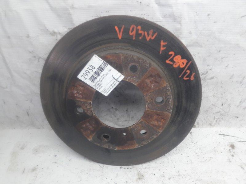 Тормозной диск Mitsubishi Pajero V93W 6G72 2006 передний (б/у)