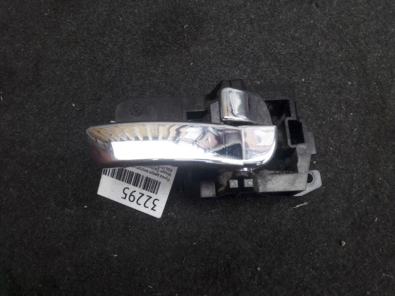 Ручка двери внутренняя Nissan Qashqai J10 2007 задняя правая (б/у)