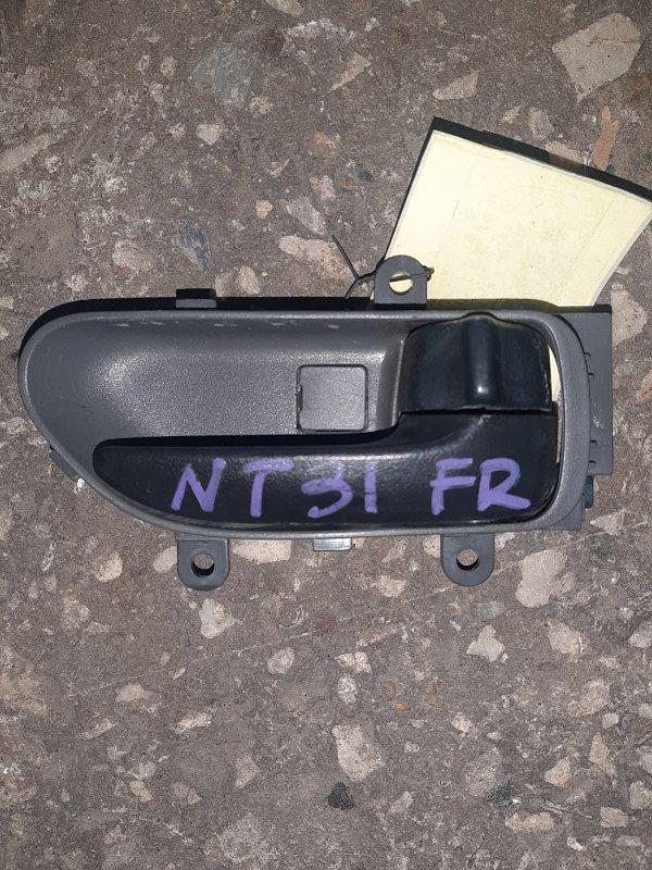 Ручка двери внутренняя Nissan Xtrail NT31 передняя правая (б/у)