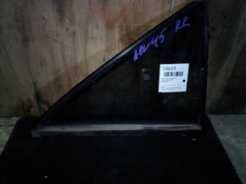 Форточка двери Toyota Camry ACV40 задняя правая (б/у)