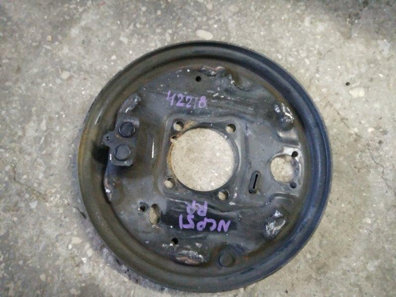 Тормозной опорный щит Toyota Probox NCP50 задний правый (б/у)