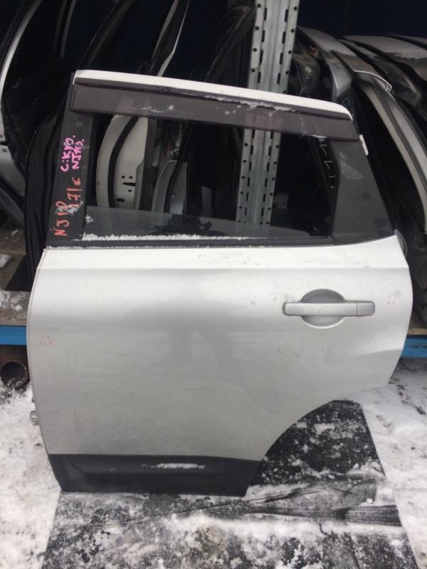 Дверь Nissan Qashqai J10 задняя левая (б/у)