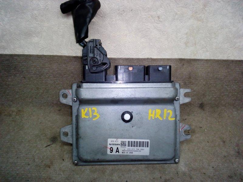 Блок управления двс Nissan March K13 HR12 2010 (б/у)