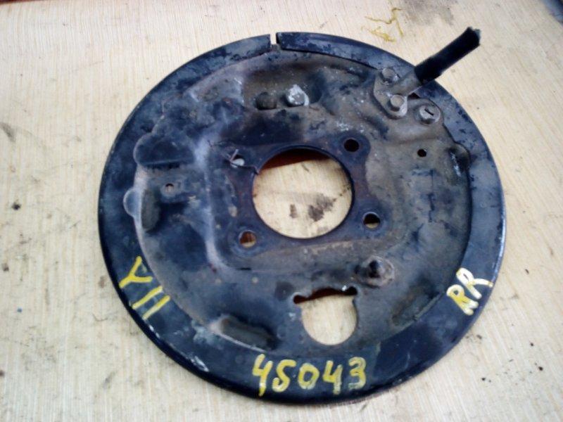 Тормозной опорный щит Nissan Ad Y11 задний правый (б/у)