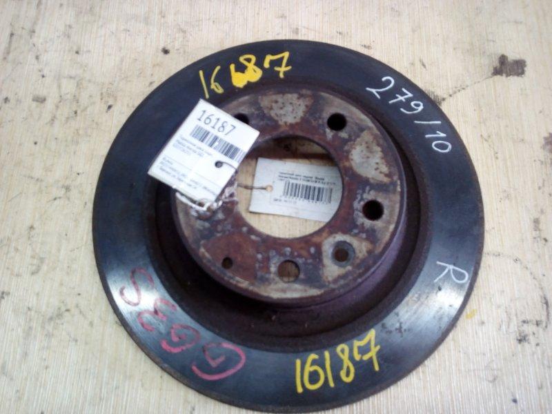 тормозной диск задний  Mazda Atenza/Mazda 6 GG#/GY# R б/у 5*114 (280*10)