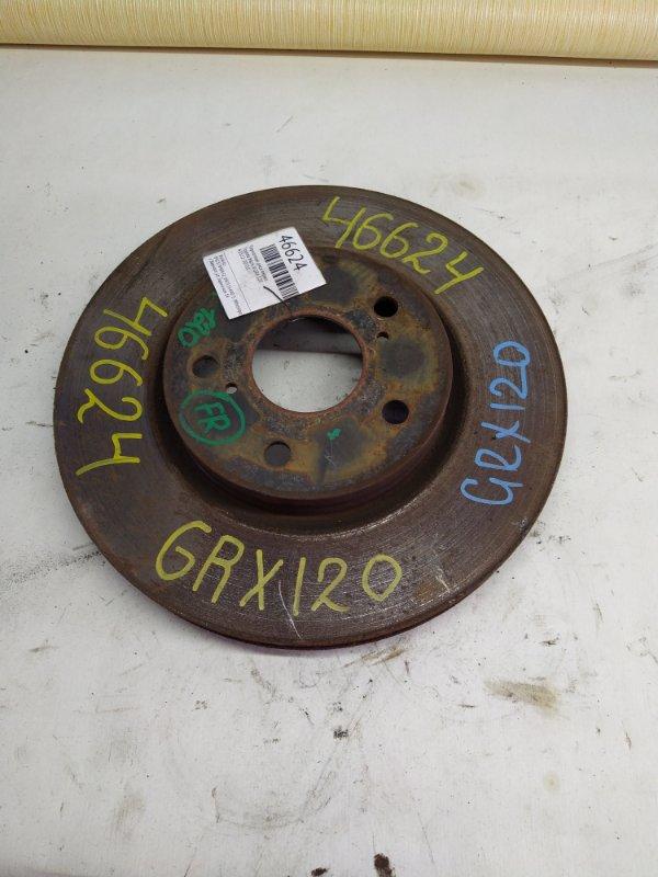 Тормозной диск Toyota Mark X GRX120 передний (б/у)