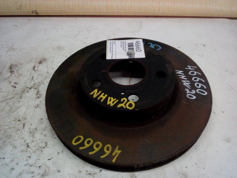 Тормозной диск Toyota Prius NHW20 передний (б/у)