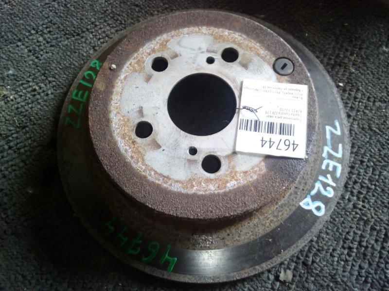Тормозной диск Toyota Corolla ZZE128 задний (б/у)