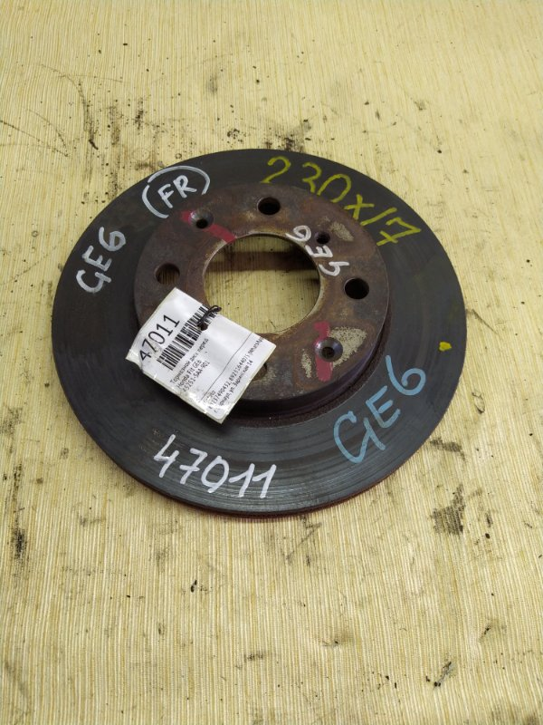 Тормозной диск Honda Fit GE6 передний (б/у)