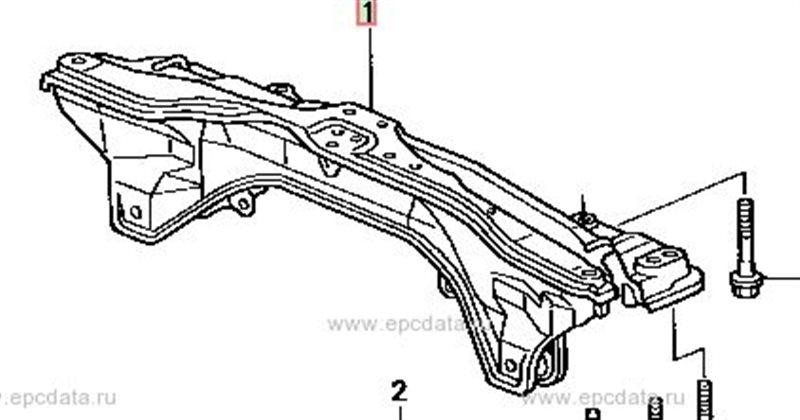 Балка подвески Honda Orthia EL2 передняя (б/у)