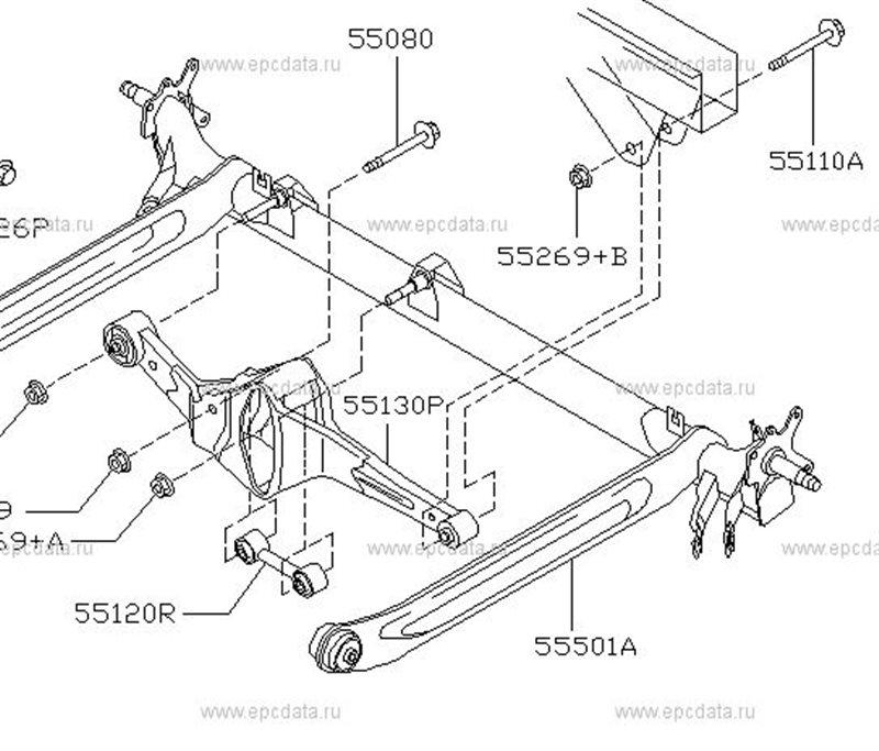 Балка подвески Nissan Almera N16 задняя (б/у)