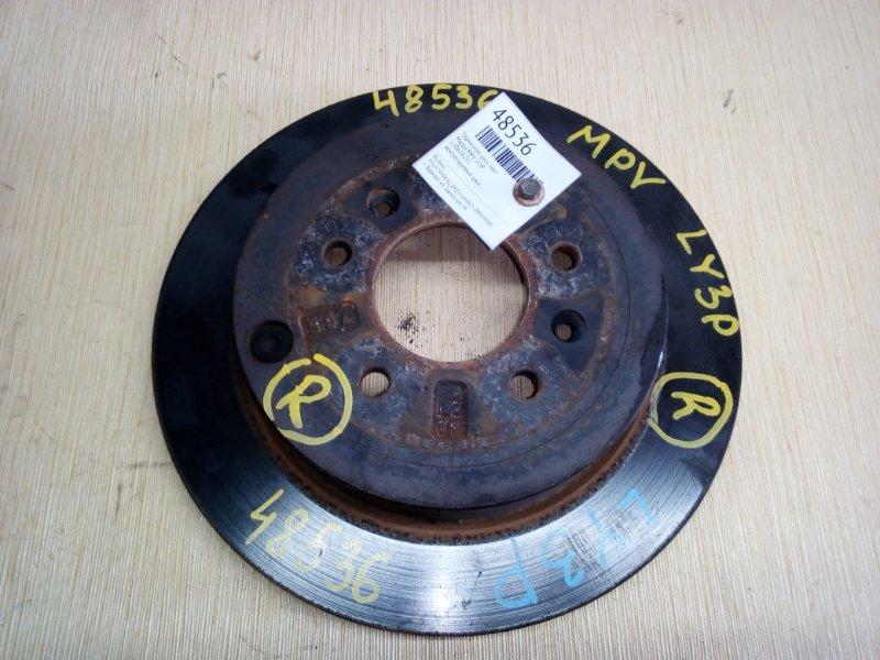 Тормозной диск Mazda Mpv LY3P задний (б/у)