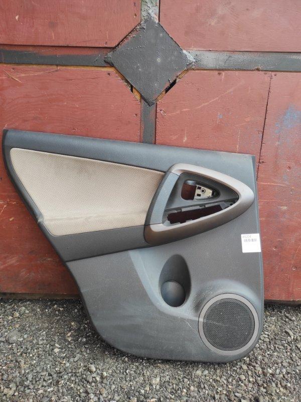 Обшивка двери Toyota Rav4 ACA31 задняя левая (б/у)