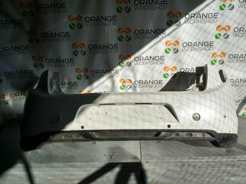 Бампер задний ( белый/дефект ) под датчики парковки Citroen C4 Aircross б/