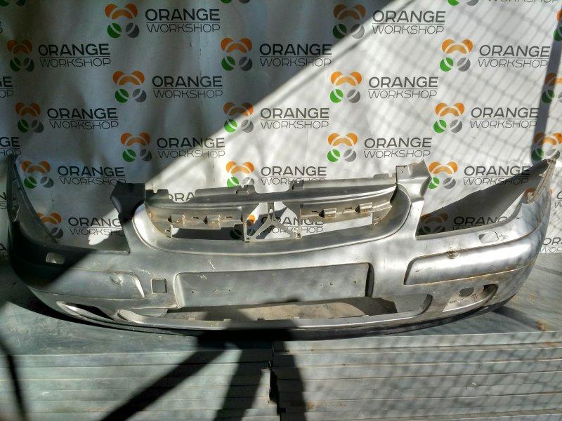 Бампер передний (серебро/дефект) под омыватли фар Citroen C5 01- б/у