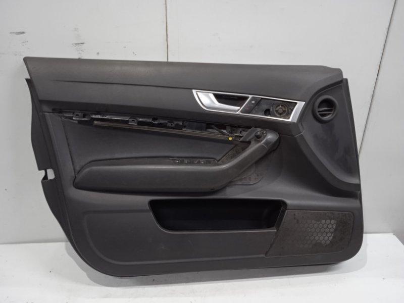 Обшивка двери Audi A6 C6 2004 передняя левая (б/у)