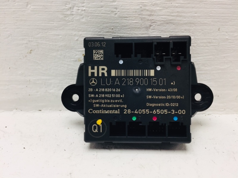 Блок комфорта Mercedes C300 W204 3.5 2012 задний правый (б/у)