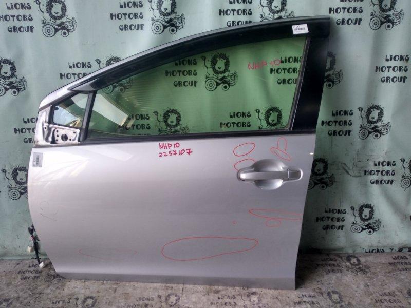 Дверь боковая Toyota Aqua NHP10 передняя левая (б/у)
