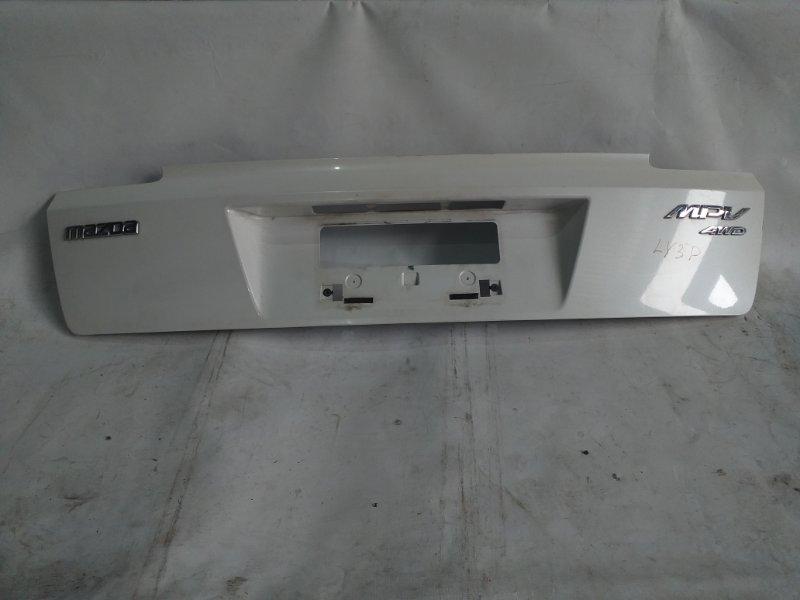 Накладка 5-й двери Mazda Mpv LY3P задняя (б/у)