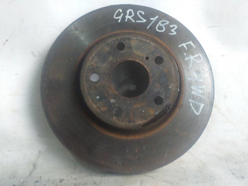 Тормозной диск Toyota Crown GRS183 передний правый (б/у)