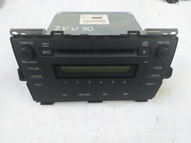 Магнитофон Toyota Prius ZVW30 2ZR-FXE 2012.07 (б/у)