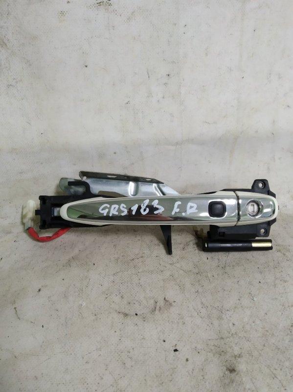 Ручка двери Toyota Crown GRS183 3GR-FSE 2004.12 передняя правая (б/у)
