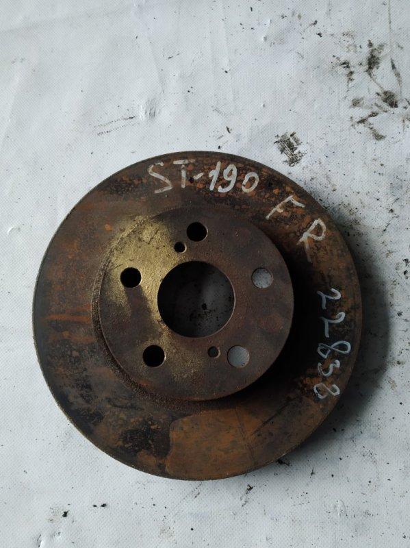 Тормозной диск Toyota Carina ST190 4S-FE передний (б/у)