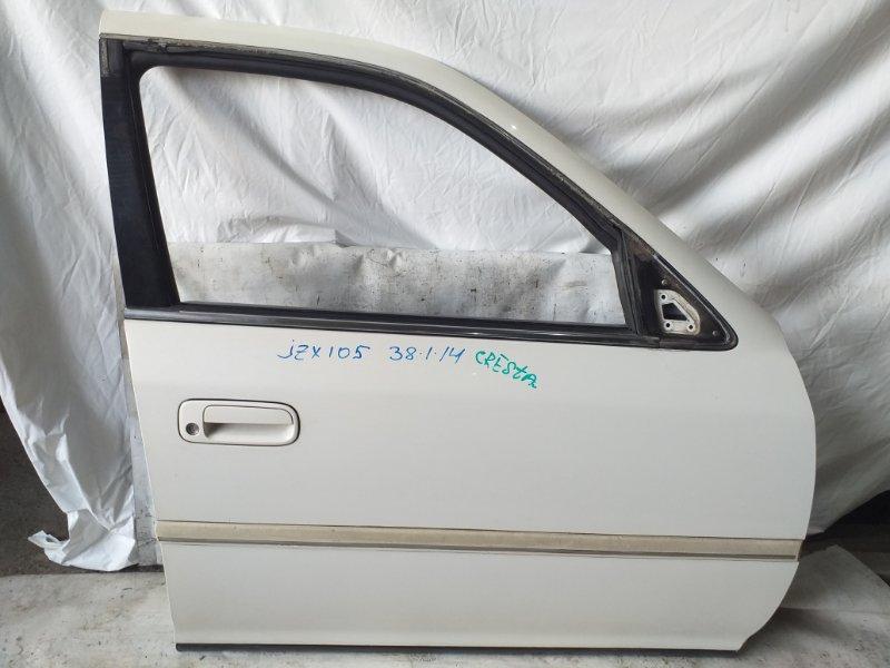 Дверь боковая Toyota Cresta JZX105 передняя правая (б/у)