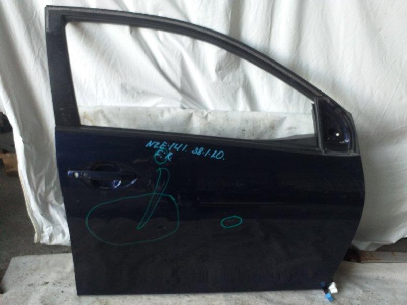 Дверь боковая Toyota Corolla Fielder NZE141 передняя правая (б/у)