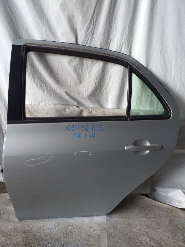Дверь боковая Toyota Belta NCP96 задняя левая (б/у)