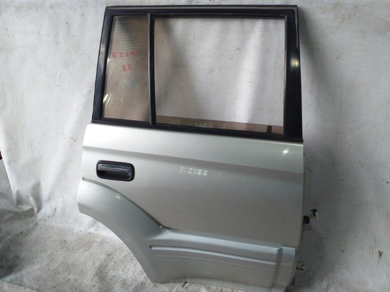 Дверь боковая Toyota Land Cruiser Prado RZJ95 3RZ-FE 1999.05 задняя правая (б/у)