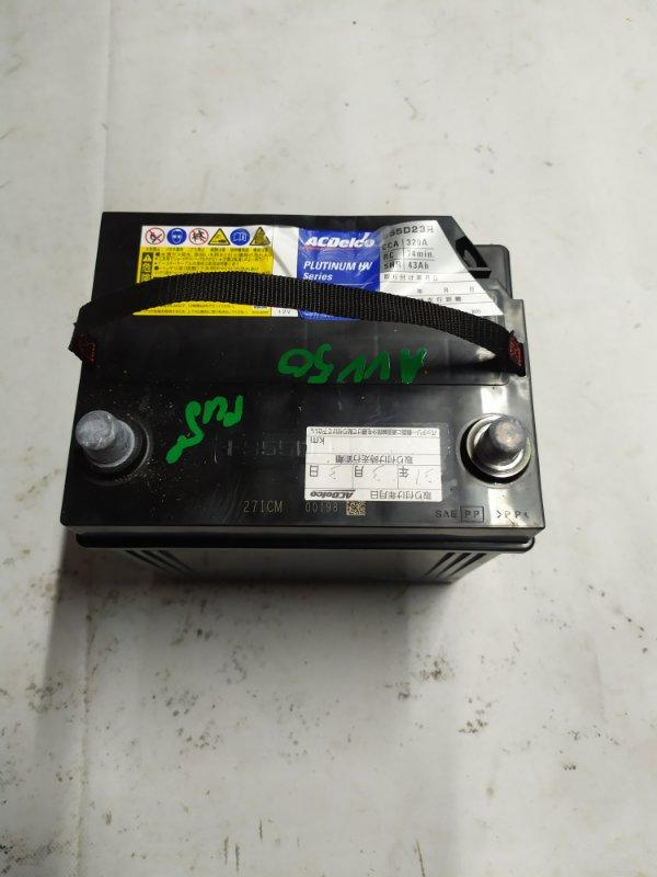 Аккумулятор Toyota Camry AVV50 2AR-FXE 2012.03 (б/у)