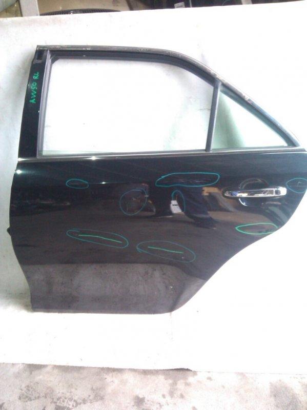 Дверь боковая Toyota Camry AVV50 2AR-FXE 2012.03 задняя левая (б/у)