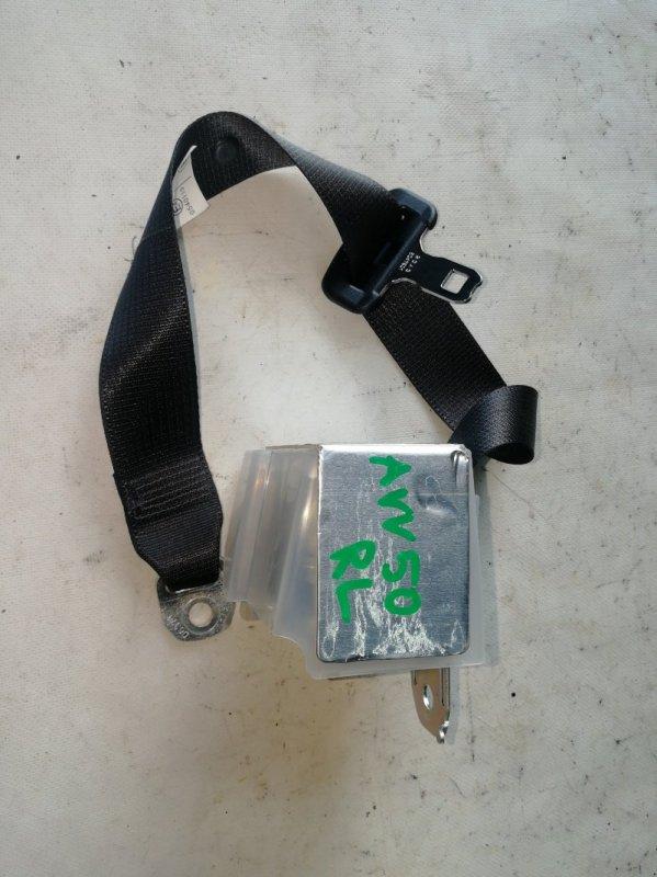 Ремень безопасности Toyota Camry AVV50 2AR-FXE 2012.03 задний левый (б/у)