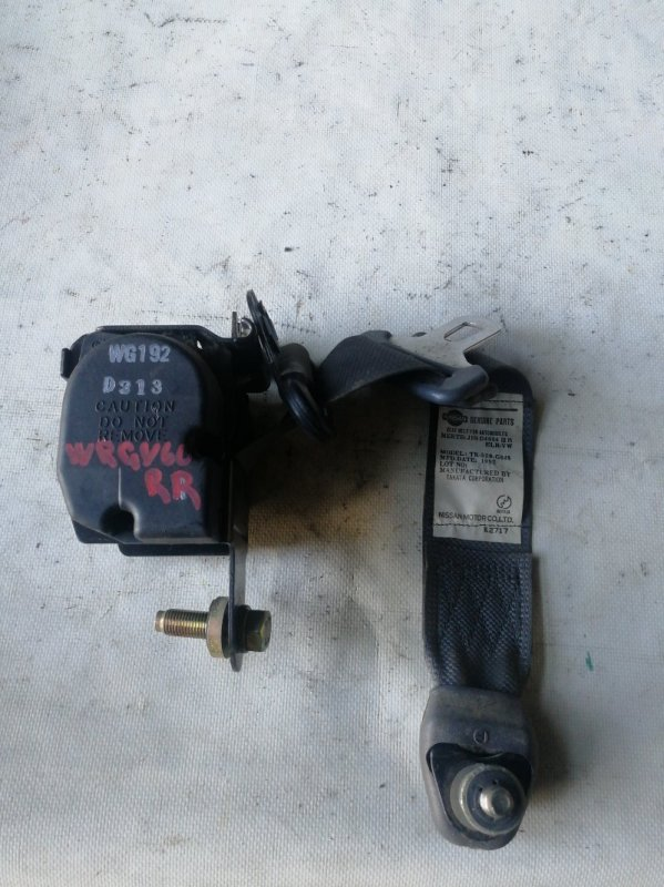 Ремень безопасности Nissan Safari WRGY60 TD42 1992.03 задний правый (б/у)