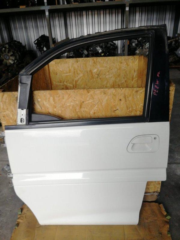 Дверь боковая Mitsubishi Delica PE8W 4M40 передняя левая (б/у)