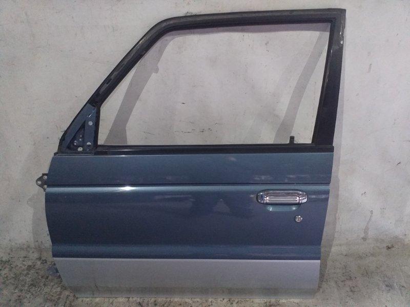 Дверь боковая Mitsubishi Pajero V45W 6G74 1997.11 передняя левая (б/у)