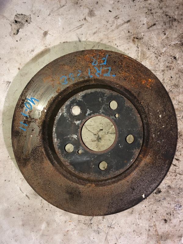 Тормозной диск Toyota Premio ZRT260 2ZR-FE 08.2009 передний (б/у)