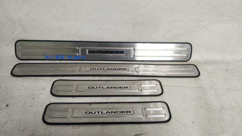 Накладка на порог салона Mitsubishi Outlander CW5W 4B12 (б/у)