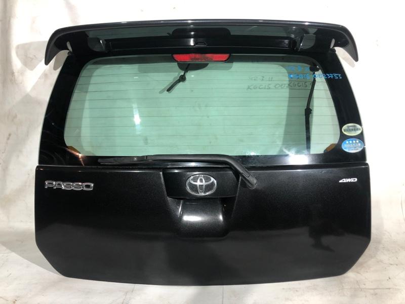 Дверь задняя Toyota Passo KGC15 1KR 2006 г. задняя (б/у)