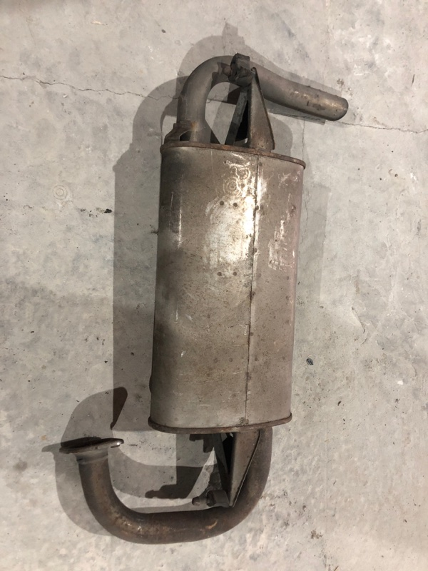 Глушитель Toyota Caldina AZT246 1AZ-FSE задний (б/у)