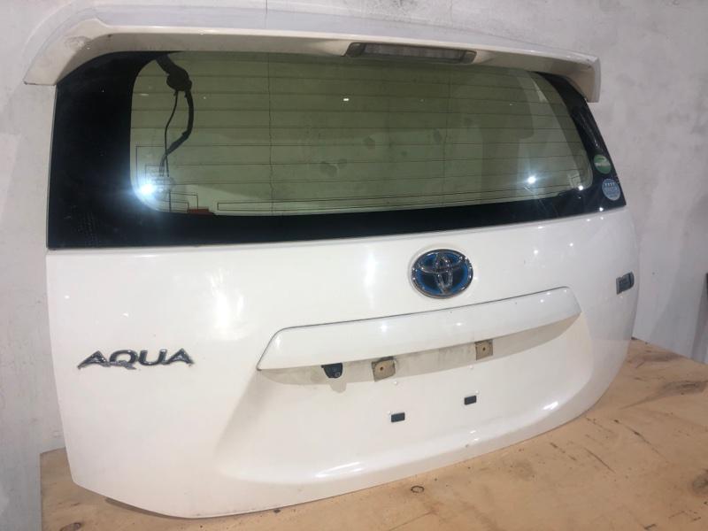 Дверь задняя Toyota Aqua NHP10 1NZFXE 2014 задняя (б/у)
